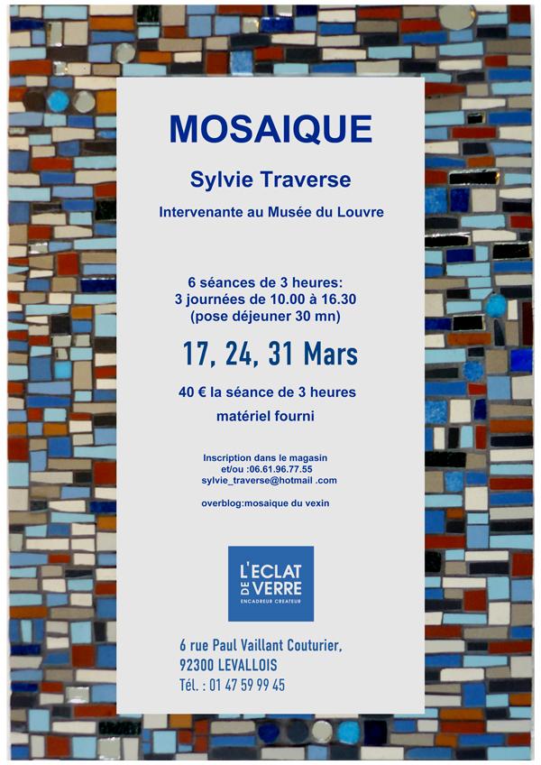 Affiche Cours de Mosaïque à l'Éclat de Verre de Levallois-Perret