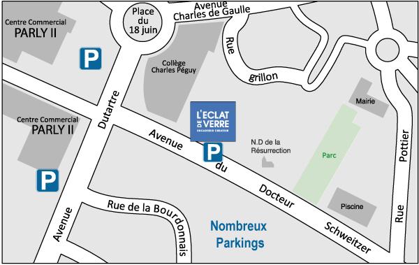 Plan du nouveau magasin l'Eclat de Verre de Versailles - Nouvelle adresse au Chesnay