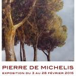 Exposition des peintures de Pierre de Michélis à Chantilly