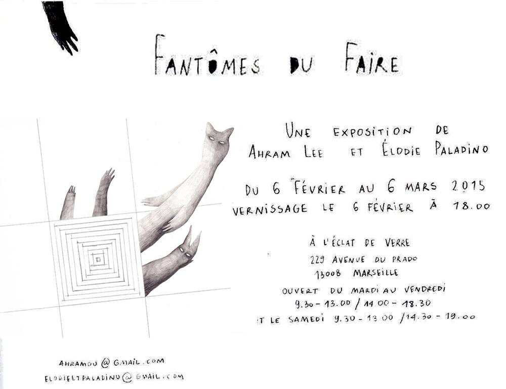 Exposition Fantome du Faire à Marseille. Elodie Palatino - Ahram Lee