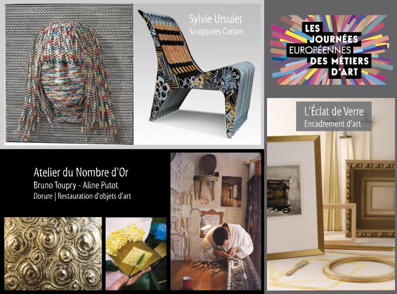 Journées européennes des métiers d'art à l'Eclat de Verre de Chantilly les 28 et 29 mars 2015