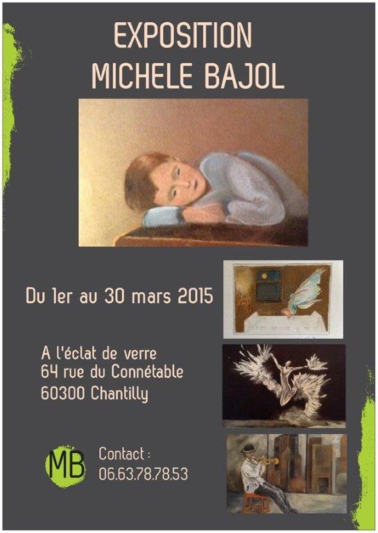 L'Eclat de Verre reçoit Michèle BAJOL artiste peintre pour son exposition de peinture du mois de mars 2015