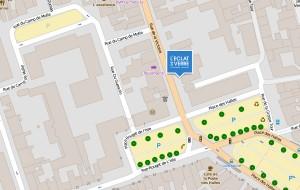 Plan de l'Éclat de Verre de Tours à sa nouvelle adresse : 46 rue de la Victoire à Tours.