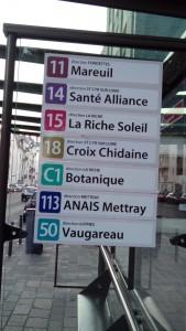 Lignes de Bus pour accéder à l'Eclat de Verre de Tous, 46 rue de la Victoire à Tours