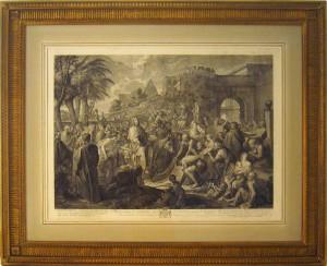 Lavis - Scène biblique