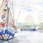 Exposition huiles et aquarelles de Frédérique Delbos à Rouen