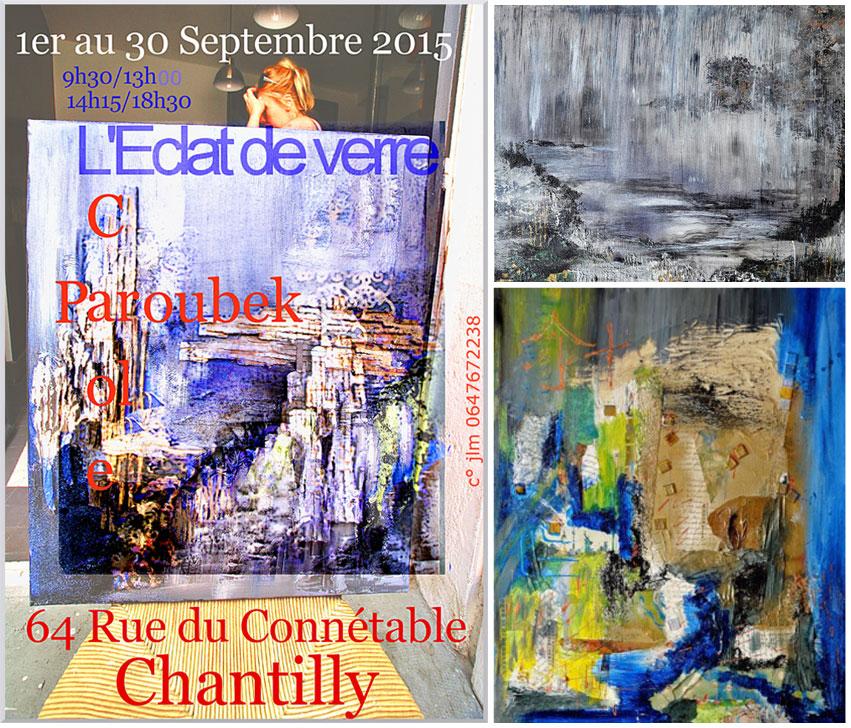 Peintures de Carole Paroubek, Exposition Septembre 2015 à Chantilly