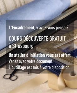 cours d'encadrement gratuit, atelier découverte à Strasbourg
