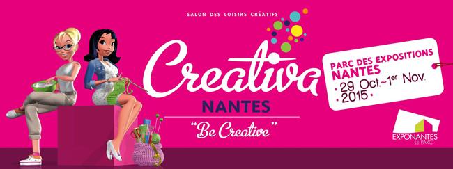 L'Eclat de Verre participe au Salon Creativa Nantes du 29 octobre au 1er novembre 2015