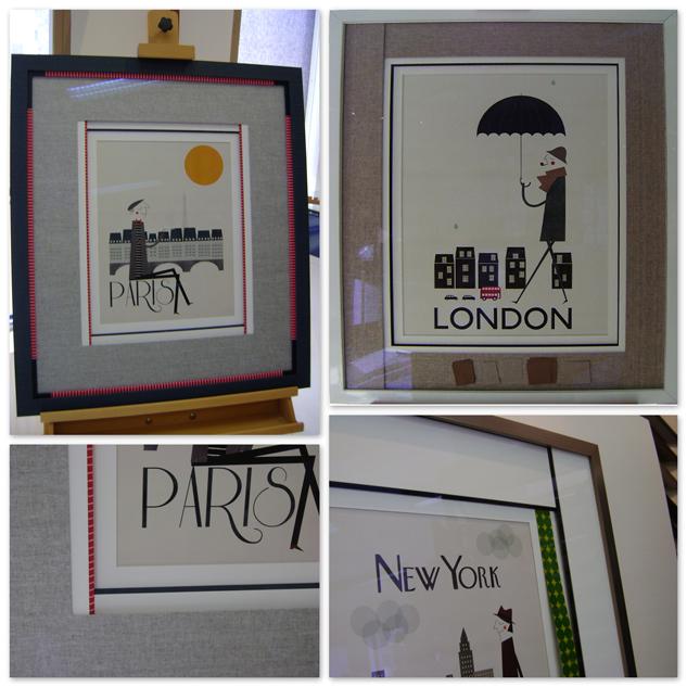 exposition cadre Parisianer et nouveauté Papiers Les lin