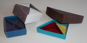 Cartonnage de boite Bento en origami
