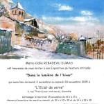 Marie-Odile RIBADEAU DUMAS Vernissage le 25 Novembre 14h-17h