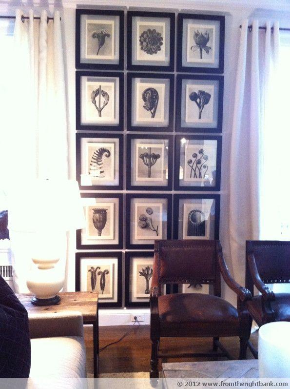 7 id es pour accrocher vos tableaux dans votre salon l. Black Bedroom Furniture Sets. Home Design Ideas