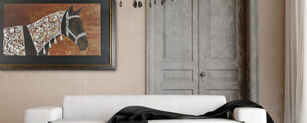 7 id es pour accrocher vos tableaux dans votre salon l eclat de verre cadres miroirs et. Black Bedroom Furniture Sets. Home Design Ideas