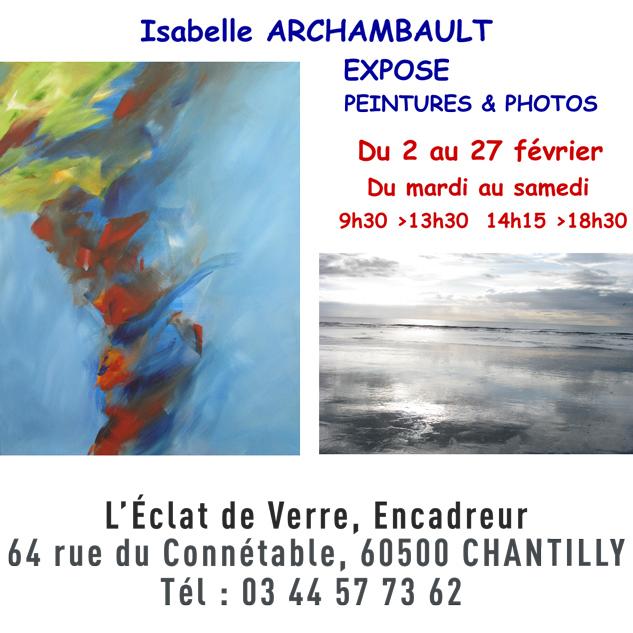 Isabelle Archambault expo peinture et photos à Chantilly