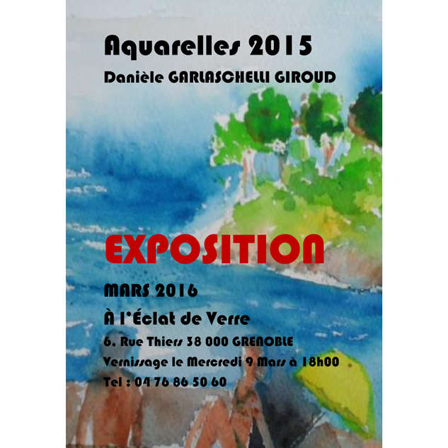 Danièle Garlaschelli Giroud affiche exposition grenoble