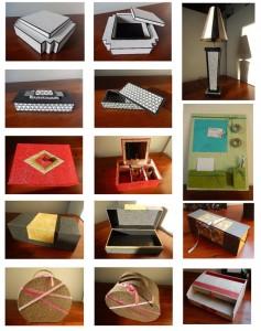 Cours de cartonnage de boites, d'objets à L'Eclat de Verre
