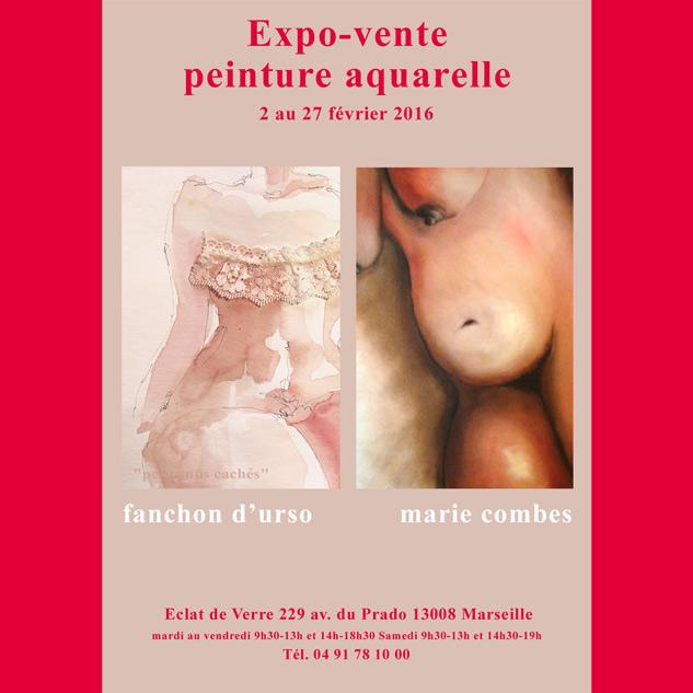 Nus à l'huile par Fanchon d'Urso et Marie Combes exposent à L'Eclat de Verre