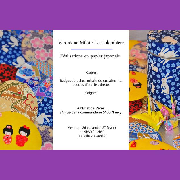 Réalisation en papier japonais avec Veronique Milot