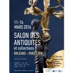Actu Mars 2016, Salon antiquités et Expo Daniel Perrard à L'Éclat de Verre d'Orléans