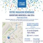L'Eclat de Verre encadreur de Papiers Paris déménage le 4 mai 2016