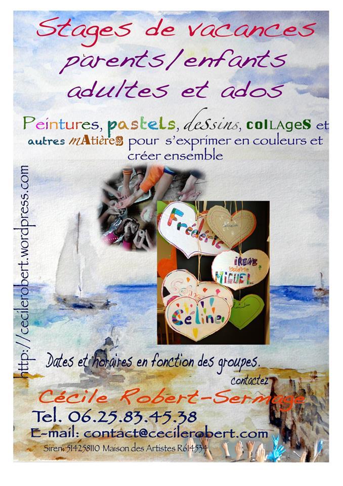 Peinture Dessin Stages Vacances Enfants Avec Cécile Robert Semage