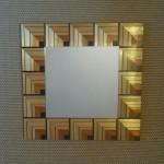 miroir marqueterie de paille