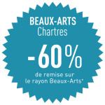 -60% sur le rayon beaux-arts à Chartres