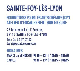 Le magasin de Sainte-Foy lès Lyon accueille désormais les clients qui avaient l'habitude de se fournir dans le magasin de Lyon centre en loisir créatifs.