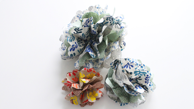 fleurs en papier