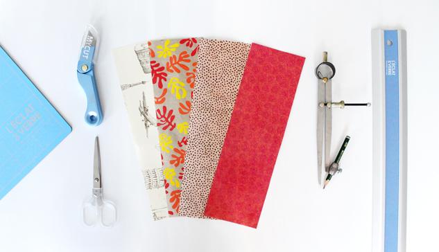 matériel DIY rose en papier