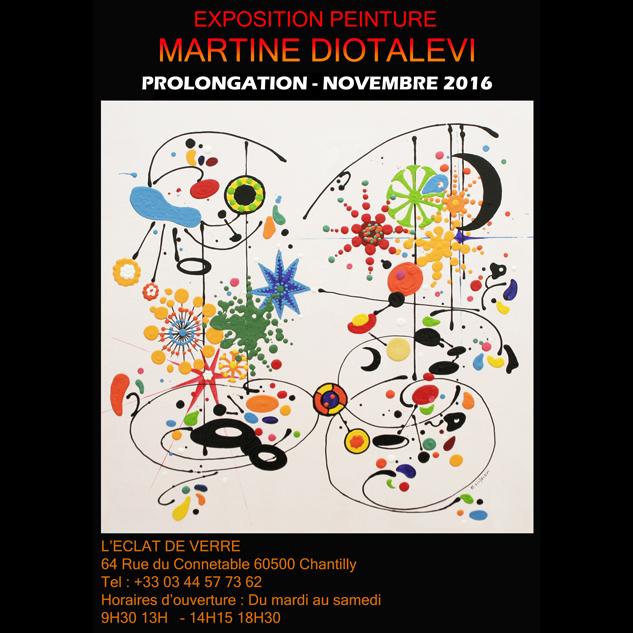 Exposition Martine Diotalevi novembre 2016 à L'Eclat de Verre de Chantilly