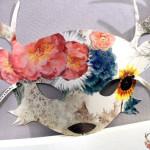 masque sur le stand eclat de verre salon créations et savoir faire