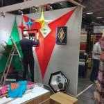 préparation stand eclat de verre salon créations et savoir faire