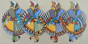 mik jegou artiste peinture danseuses boules