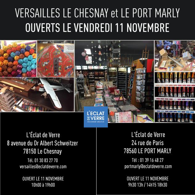 Encadreur versailles le chesnay port marly ouvert le 11 novembre