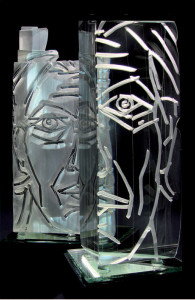 Christian Herry sculpture de verre
