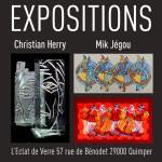 Exposition Mik Jégou artiste peintre et Christian Herry, sculpteur de verre à Quimper