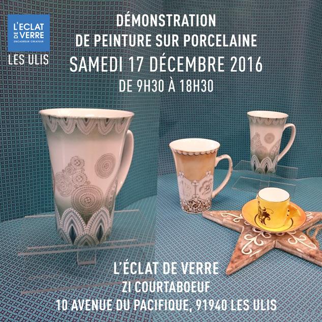peinture sur porcelaine aux ulis le samedi 17 décembre 2016