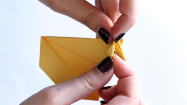 pliage origami poules de paques en origami tutoriel eclat de verre