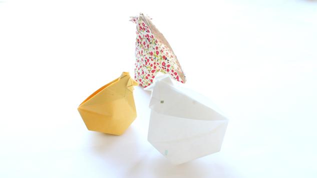 poules de paques en origami tutoriel eclat de verre