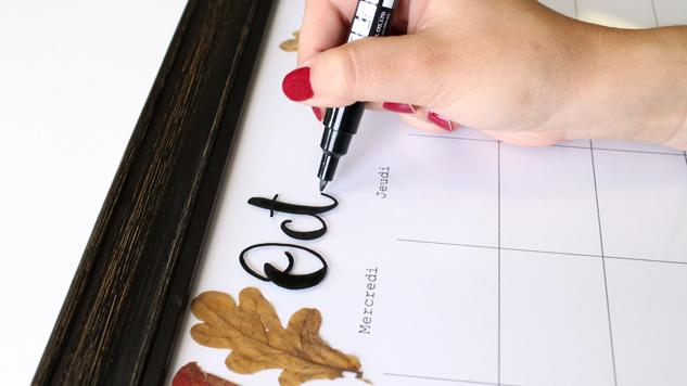DIY calendrier perpétuel