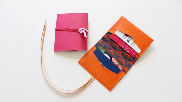 DIY porte-cartes en simili cuir