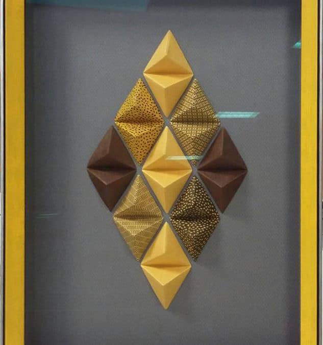 Tuto cadre diamant origami