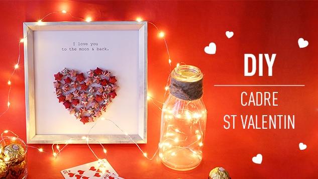 DIY Cadre Saint-Valentin