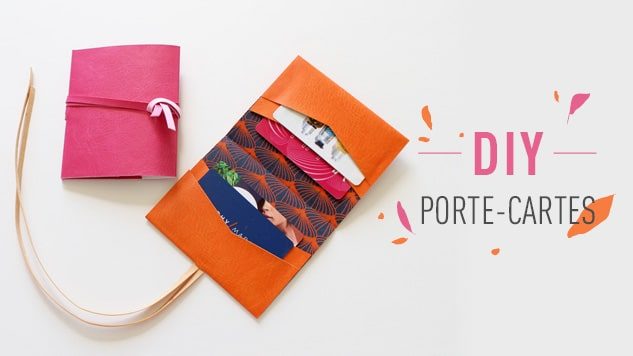 DIY porte-cartes en simili cuir
