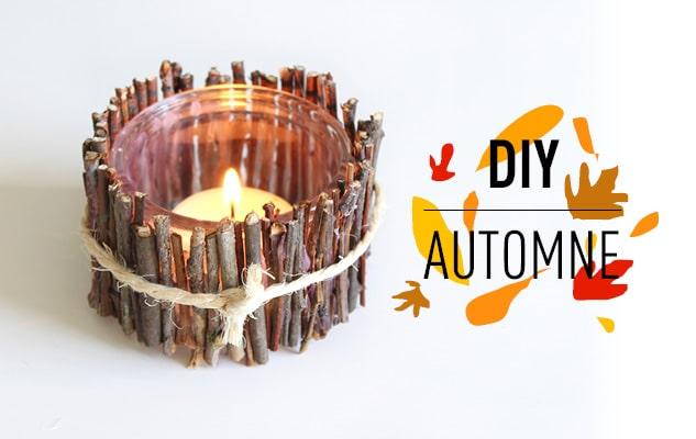 DIY de l'automne : le bougeoir
