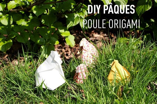 DIY Pâques – Poule origami