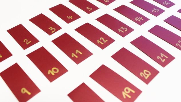 DIY cadre calendrier de l'Avent