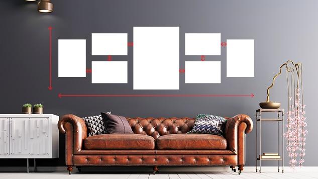 Exemple mur de cadres